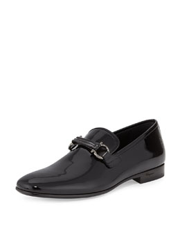 Salvatore Ferragamo Party Patent Formal Loafer, Black