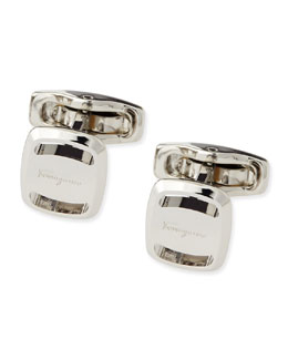 Salvatore Ferragamo Silver Vara Cuff Links