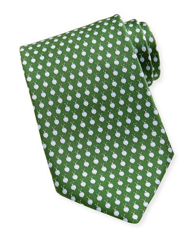 Salvatore Ferragamo Snail Silk Tie, Green