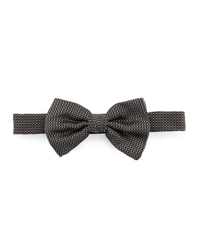 Salvatore Ferragamo Torres Silk Bow Tie, Black