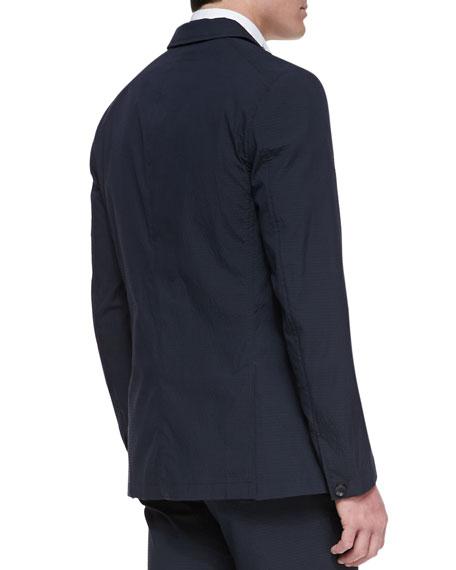 Phillips Cotton-Blend Blazer, Navy