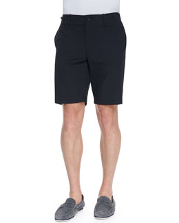 Rag & Bone Cotton-Blend Beach Shorts, Navy