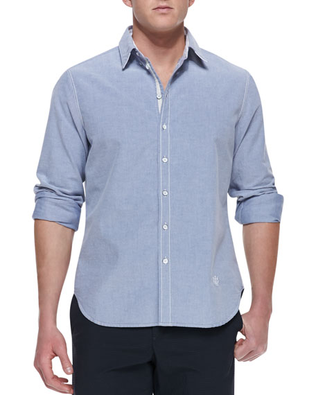 Button-Down Oxford Shirt, Navy
