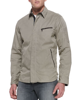 Rag & Bone Hendon Utility-Shirt Jacket, Brown