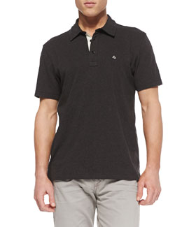 Rag & Bone Moulinex Chest-Pocket Polo, Gray