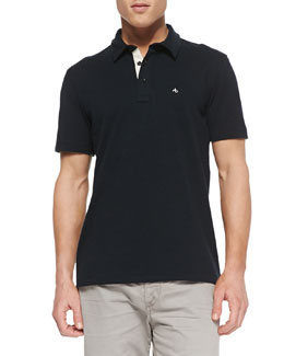 Rag & Bone Moulinex Chest-Pocket Polo, Navy
