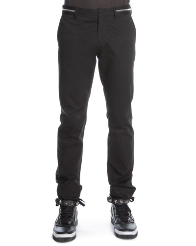 Givenchy Zipper-Waist Trousers, Black