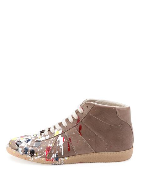 Pollock Mid-Top Replica Sneaker, Dark Beige