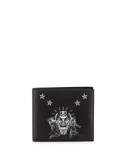 Givenchy Elmirinda Print Leather Billfold Wallet, Black/White
