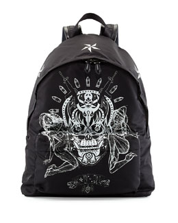 Givenchy Elmerinda Printed Nylon Backpack