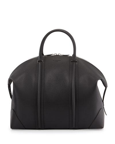 Men's 24-Hour Leather Satchel Bag, Black