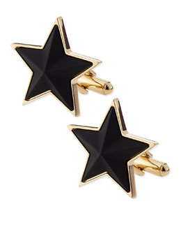 Givenchy Black-Star Cuff Links