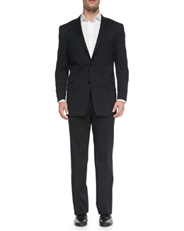Versace City-Fit 2-Button Wool Suit
