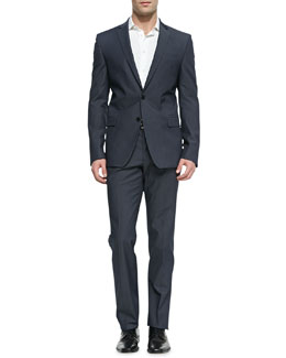 Versace Trend-Fit Notched-Lapel Suit, Gray