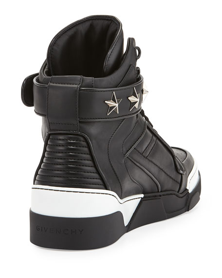 Givenchy Tyson Star High-Top Sneaker, Black
