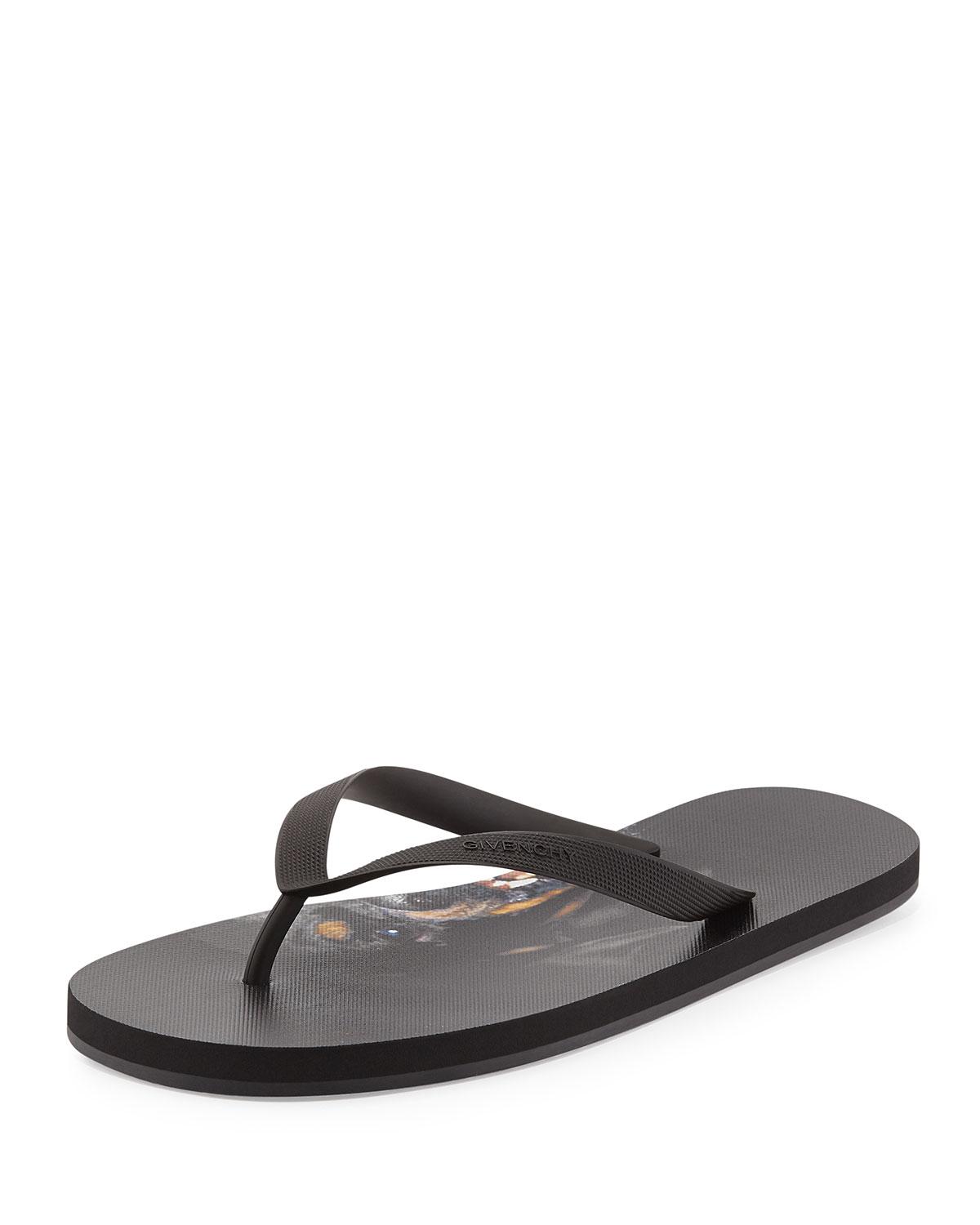 8e9590483021 Givenchy Favelas Rottweiler Flip Flops