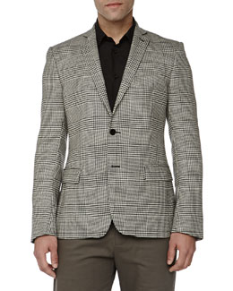 Versace Trend-Fit Herringbone 2-Button Jacket