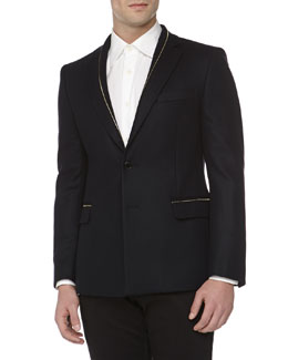Versace Fashion-Fit 2-Button Jacket, Navy