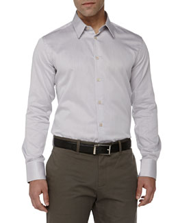 Versace Trend-Fit Dress Shirt, Grey