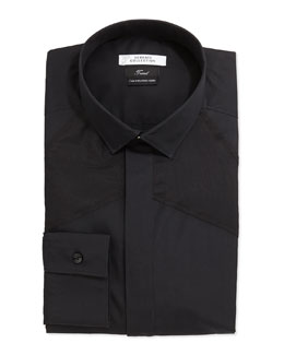 Versace Trend Fit Dress Shirt, Black