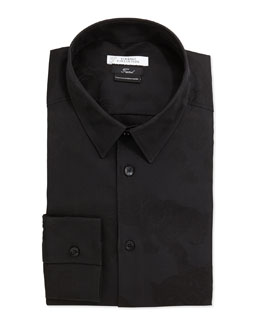 Versace Slim Fit Dress Shirt, Black