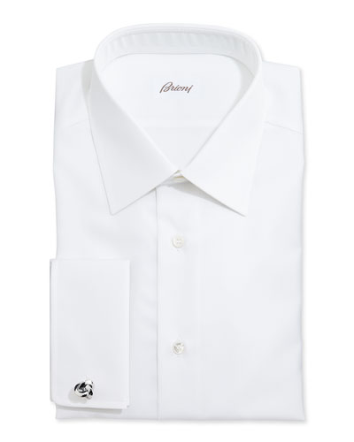 White-On-White Stripe Dress Shirt, White