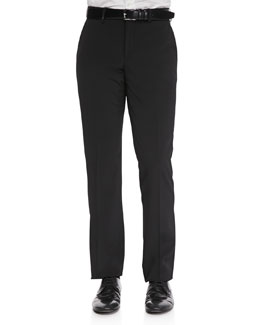 Versace Trend-Fit Trousers with Leather Piping