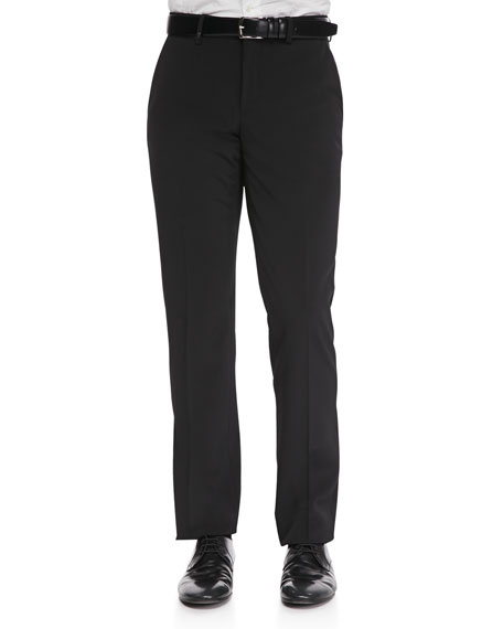 Trend-Fit Trousers with Leather Piping