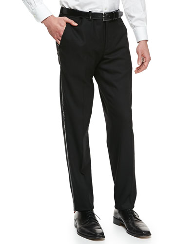 Versace Tuxedo Trousers, Black