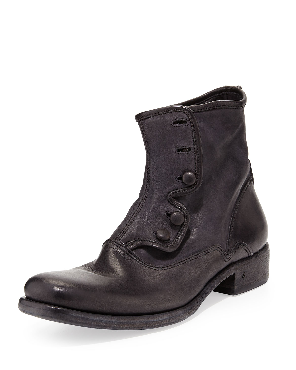 John Varvatos Bowery Button Boot, Black