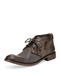 John Varvatos Freeman Raw-Edge Chukka Boot, Dark Brown
