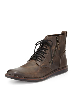John Varvatos Star Usa Barrett Side-Zip Boot, Gray