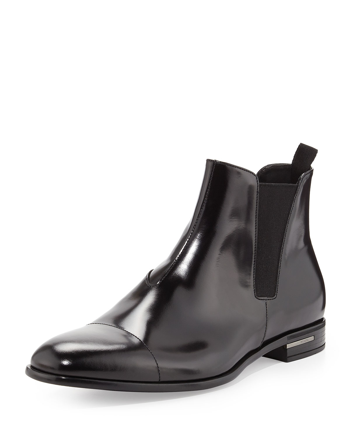 Prada Spazzolato Chelsea Dress Boot