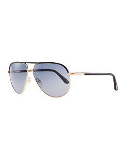 Tom Ford Aviator Sunglasses, Rose Golden