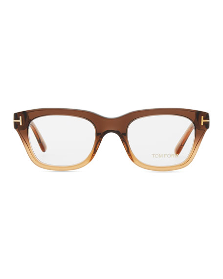 Large Framed Fashion Glasses : TOM FORD Large Havana Frame Fashion Glasses, Brown