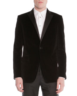 Givenchy Velvet Evening Jacket, Black