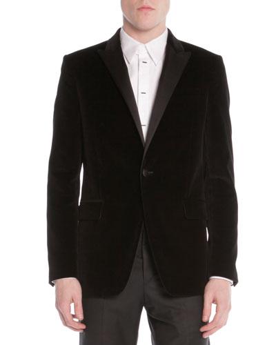 Givenchy Velvet Evening Jacket, Black