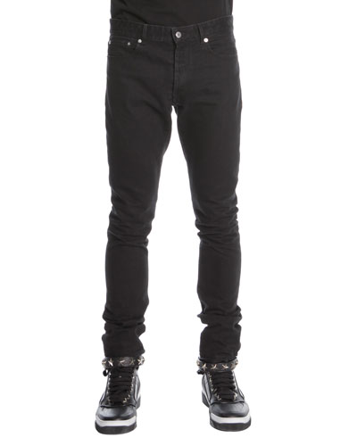 Givenchy 3-Star Faded Jeans, Black
