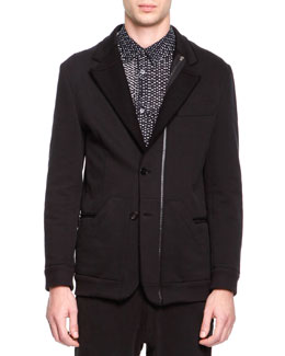 Maison Martin Margiela Soft Jersey Notched Jacket, Black