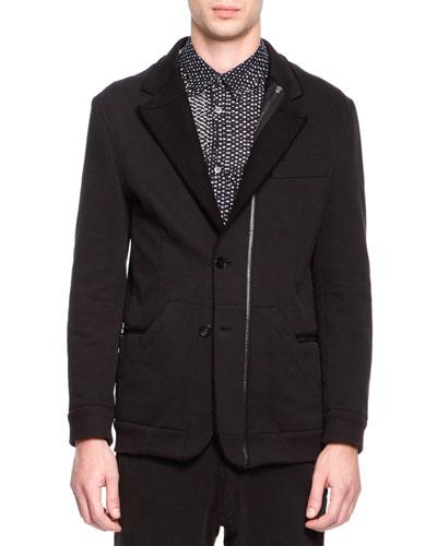 Maison Martin Margiela Soft Jersey Notched Jacket, Black