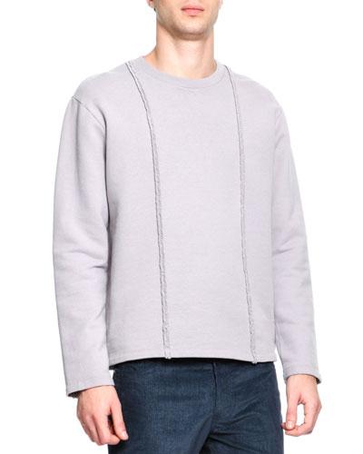 Maison Martin Margiela Crewneck Braid Detail Sweatshirt, Gray