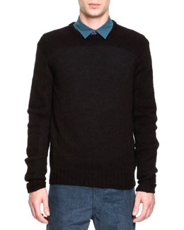 Maison Martin Margiela Wool/Alpaca Crewneck Sweater, Black