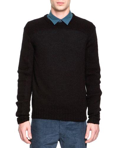 Maison Martin Margiela Wool/Alpaca Crewneck Sweater, Black