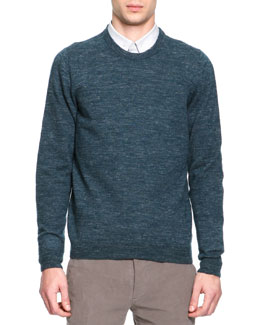 Maison Martin Margiela Crewneck Elbow Patch Sweater, Green