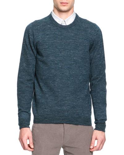 Maison Martin Margiela Crewneck Elbow Patch Sweater, Green