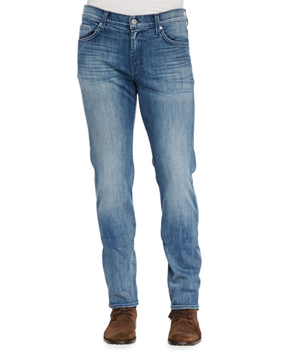 7 For All Mankind Luxe Performance: Slimmy Capri Breeze Jeans