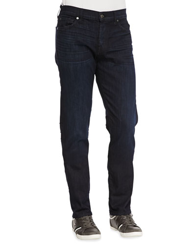 7 For All Mankind Luxe Performance: Standard Dark Indigo Jeans