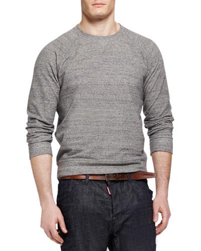 Raglan Pullover Sweatshirt, Gray