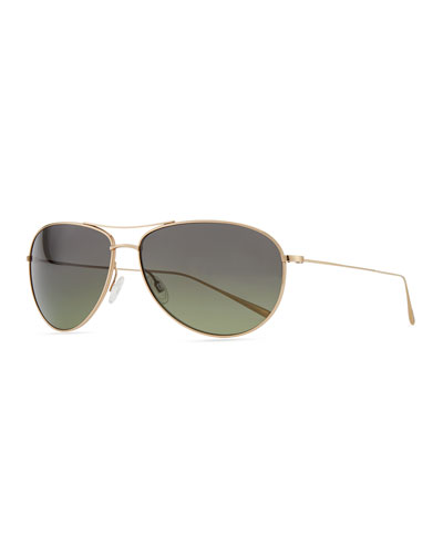 Oliver Peoples Tavener 61 Polarized Sunglasses, Gold