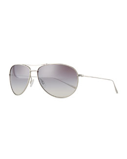 Oliver Peoples Tavener 61 Mirrored Sunglasses, Silver